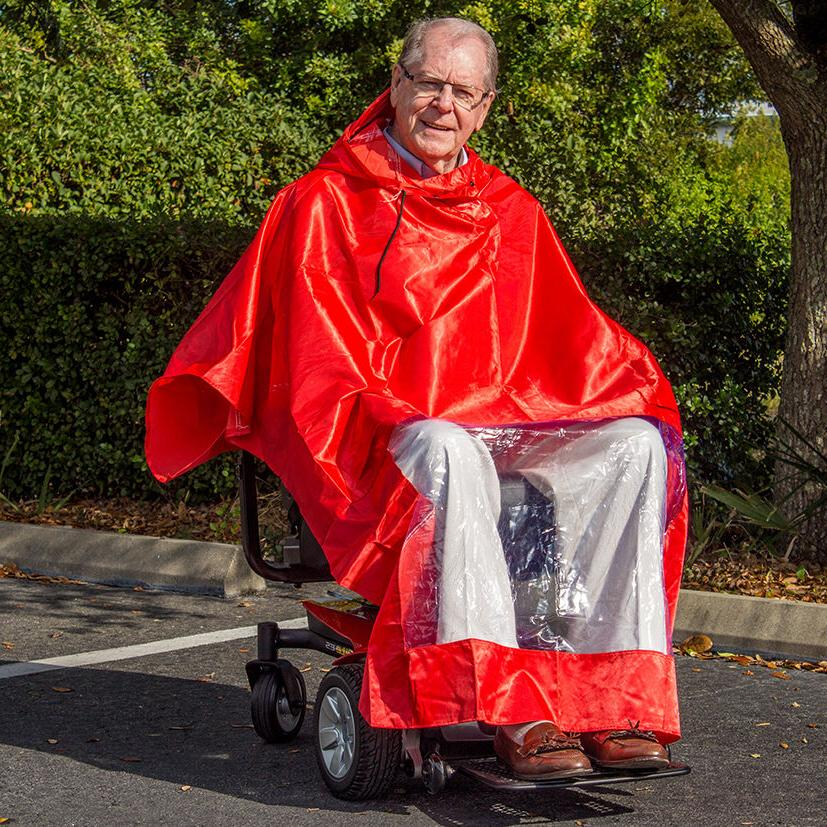 Scooter Rain Poncho Challenger Mobility J800, Waterproof & Cape
