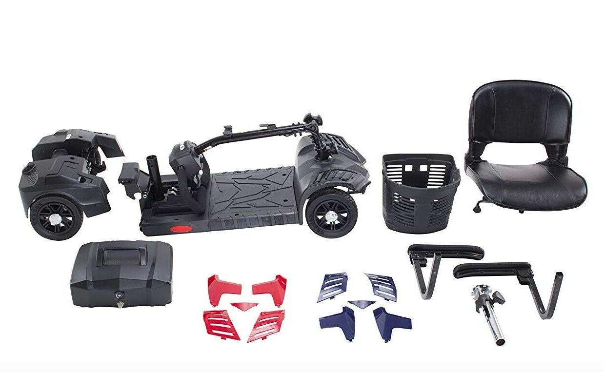Drive Scout Adult Medical Scooter 4 Wheels Compact Electric Battery NEW