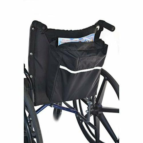 """Standard Seatback Bag Fits Mobility Scooters Wheelchairs 12""""x x 3"""""""