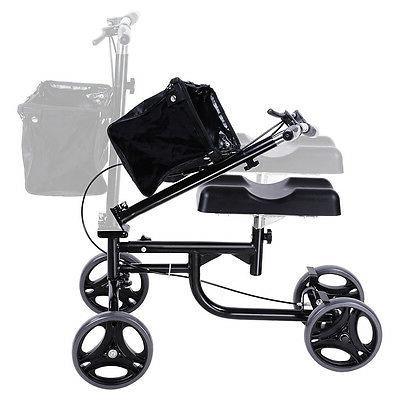Steerable Walker Scooter Turning Brake Basket Medical Drive Black