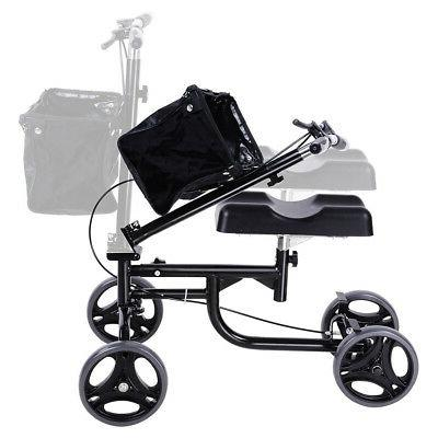 Foldable Knee Turning Steerable Brake Medical Drive Black