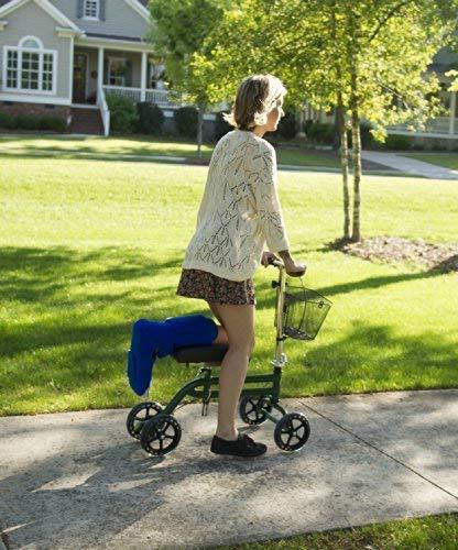 KneeRover Scooter Knee Walker Crutches in Green