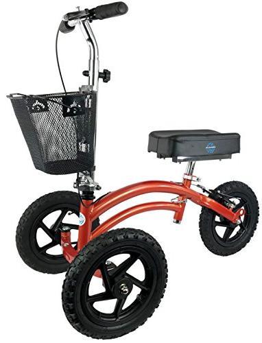 terrain steerable knee scooter