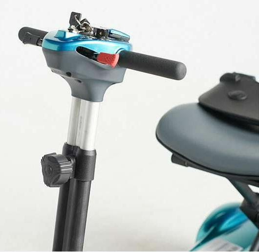 EV Automatic Folding Travel Mobility Scooter Remote Blue