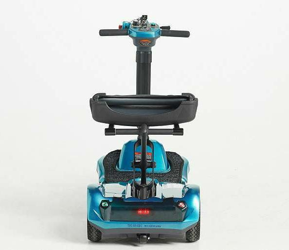 EV Rider Automatic Folding Travel Scooter w Remote Blue