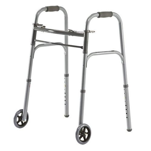 two button basic folding walkers