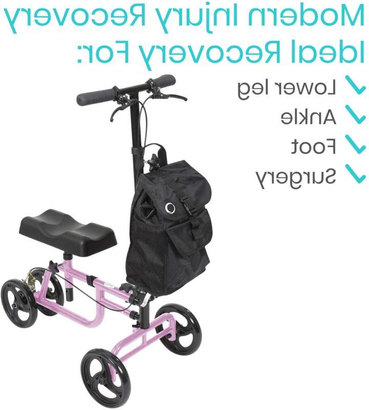 Vive Knee Walker - Steerable Scooter For Broken Leg, Foot, Ankle Injuri