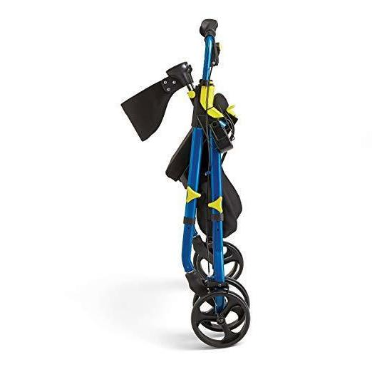 Walker Medline Folding Rollator Wheels Blue