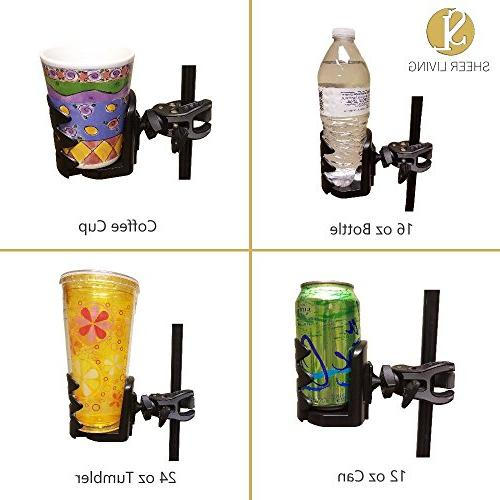 Water Cup Holder for Electric and Walker Mobility | Rails | Rollator | | Chair