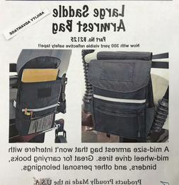 large armrest saddle bag for mobility scooters