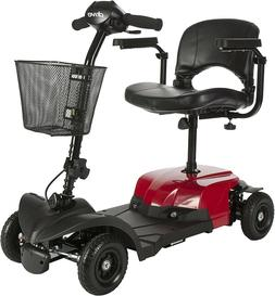 Drive Medical Bobcat X4 Compact 4 Wheels Red Mobility Scoote