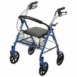 Drive Medical Rollator Walker Adult Senior with 4 Wheel 7.5i