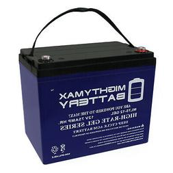 Mighty Max 12V 75AH GEL Battery Replacement for Scooter Whee