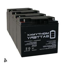Mighty Max 4 Pack - 12V 22AH Battery for EW72 Mobility Scoot