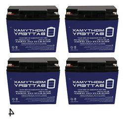 Mighty Max 4 Pack - 12V 22AH GEL Battery for EW72 Mobility S