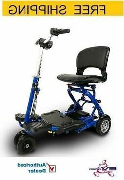 EV Rider - MiniRider Folding Mobility scooter , Blue, Free S