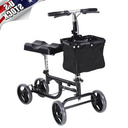 Mobility Foldable Knee Walker Scooter Walking Aid with Baske