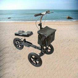 Mobility Knee Walker Scooter Roller All Terrain Crutch Steer