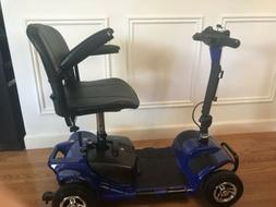 Mobility Scooter Blue Color- Front wheel drive- Battery Oper