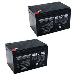 NEW 2 PACK UPG UB12150 12V 15AH F2 Battery for Pride Mobilit