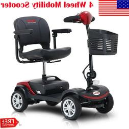 New Folding Electric Powered Mobility Scooter 4 Wheel Travel