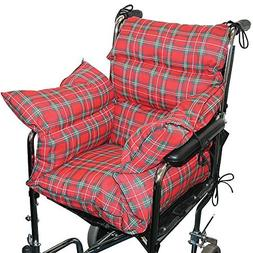 Plaid Comfort Cushion Soft Wheelchair Accessory Helps Preven