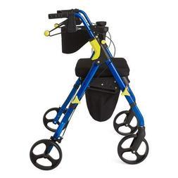Medline Premium Empower Folding Mobility Rollator Walker wit