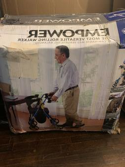premium empower folding rollator walker with 8