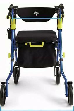 Medline  Premium Empower  Rollator Walker Blue  And Yellow