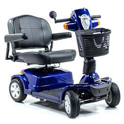 Pride Maxima Bariatric 4-Wheel HD Electric Scooter Blue + Ch