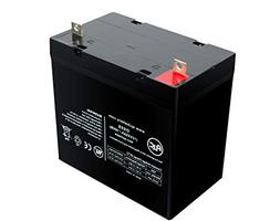 Pride Mobility Quantum 1121 12V 55Ah Scooter Battery - This