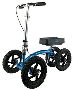 NEW KneeRover QUAD All Terrain Knee Walker in Metallic Blue