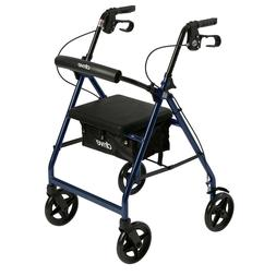 R728BL - Aluminum Rollator with Fold Up and Removable Back S
