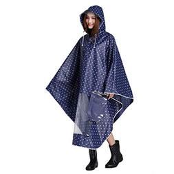 QCHOMEE Man Woman Rain Cape Waterproof Poncho Anti-rain Hood