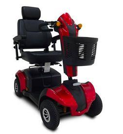 RED CityRider Mobility Scooter, 350 lb Cap, 17 Mile Range, C