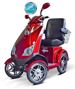 EWheels RED EW-72 Fast HD 4 Wheel Mobility Scooter, Goes Up