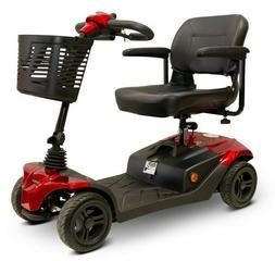 EWheels Medical EW-M41 Four Wheel Scooter, RED 350 lb Cap, L