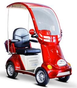 RED Fast 4 Wheel BUGGIE EW-54 Top & Windshield, Mobility Sco