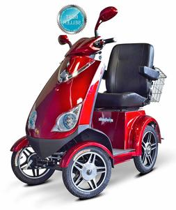 Red Speedy EW-72 Fast 4 Wheel Mobility Scooter, Goes Up To 1
