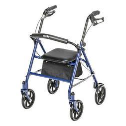 "Rollator Walker with Seat Steel Wheelchair Rolling -7.5"" Whe"