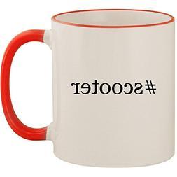 #scooter - 11oz Ceramic Colored Handle & Rim Coffee Mug Cup,