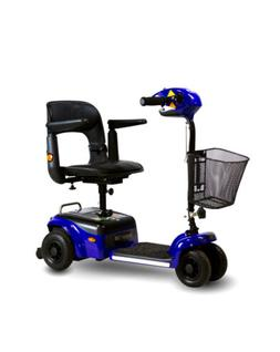scootier 4 wheel portable mobility scooter blue