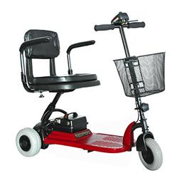 Shoprider - Echo 3 - Portable Travel Scooter - 3-Wheel - Red