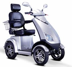 Silver Speedy EW-72 Fast 4 Wheel Mobility Scooter, Goes Up T