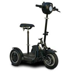 EV Rider Stand-N-Ride Mobility Scooter- Black - with Bike Se