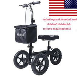 ELENKER Steerable Foldable Knee Walker Medical Scooter Turn