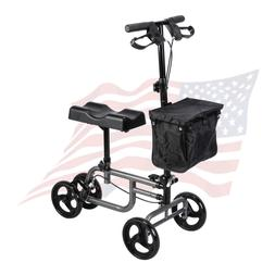 Steerable Foldable Knee Walker Medical Scooter Turning Brake