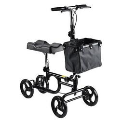 Foldable Knee Walker Scooter Turning Steerable Brake Basket