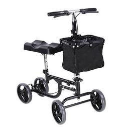 Steerable Knee Walker Scooter w/ Basket Rolling Wheel Handle