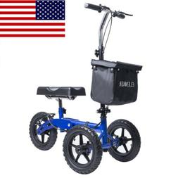 ELENKER Steerable Heavy Duty Knee Walker Scooter Turn Brake